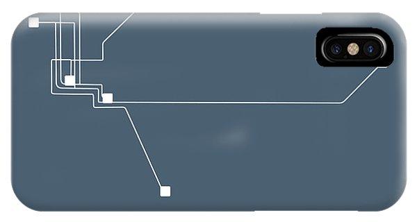 Sacramento iPhone X Case - Sacramento Subway Map by Naxart Studio