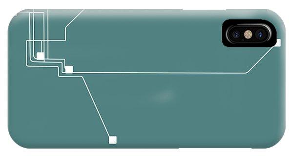 Sacramento iPhone X Case - Sacramento Teal Subway Map by Naxart Studio