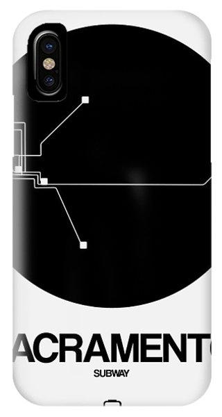Sacramento iPhone X Case - Sacramento White Subway Map by Naxart Studio