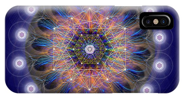IPhone Case featuring the digital art Sacred Geometry 726 by Endre Balogh