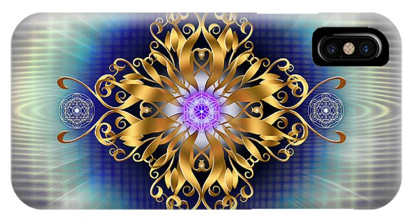 IPhone Case featuring the digital art Sacred Geometry 730 by Endre Balogh