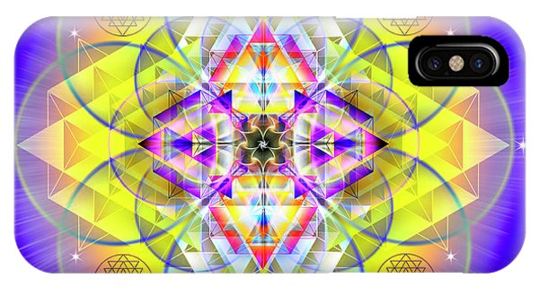 IPhone Case featuring the digital art Sacred Geometry 731 by Endre Balogh