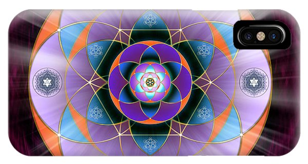 IPhone Case featuring the digital art Sacred Geometry 733 by Endre Balogh