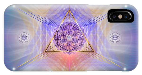 IPhone Case featuring the digital art Sacred Geometry 734 by Endre Balogh