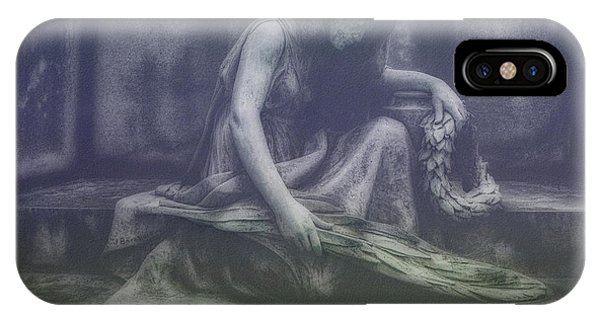Cemetery iPhone Case - Sadness And Sorrow by Tom Mc Nemar