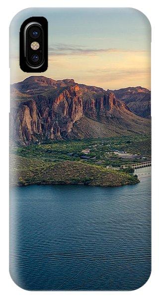 Saguaro Lake Mountain Sunset IPhone Case