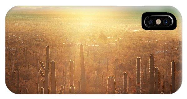 Cacti iPhone Case - Saguaro National Park by Galyna Andrushko