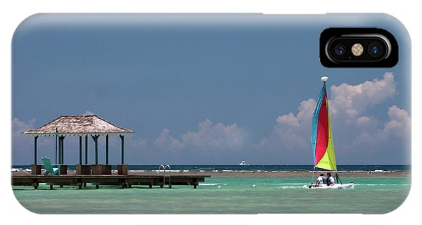 Catamaran iPhone Case - Sail Away by John Edwards