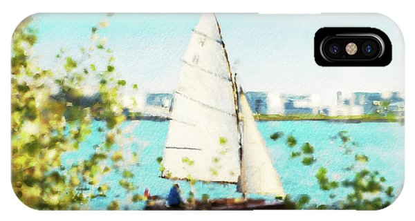 Sailboat On The River Watercolor IPhone Case