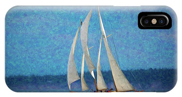 Port Townsend iPhone Case - Sailboat Painting 16 by Mike Penney