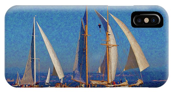 Port Townsend iPhone Case - Sailboats 17 by Mike Penney