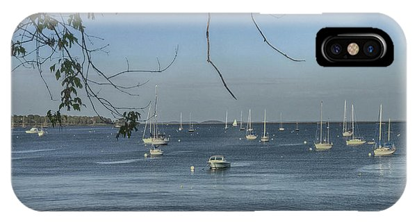 Sailboats In Rockland Harbor IPhone Case