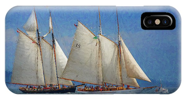 Port Townsend iPhone Case - Sailboats by Mike Penney