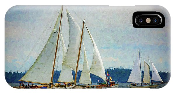 Port Townsend iPhone Case - Sailboats On Puget Sound 103 by Mike Penney