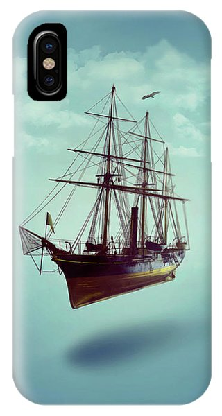 IPhone Case featuring the digital art Sailed Away by ISAW Company