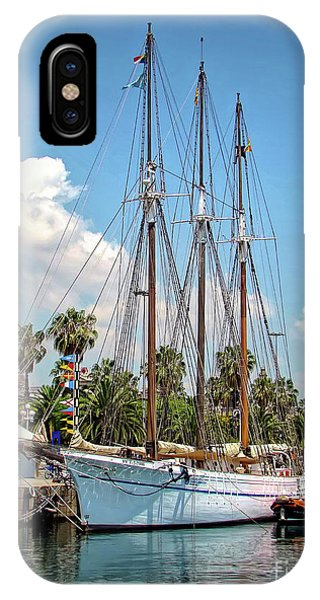 Sailing In Barcelona IPhone Case
