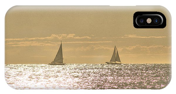 IPhone Case featuring the photograph Sailing On The Horizon by Robert Banach