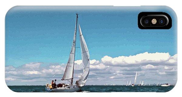 Sailing Regatta On A Brisk Summer's Day IPhone Case