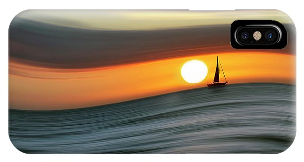 Sailing To The Sunset IPhone Case