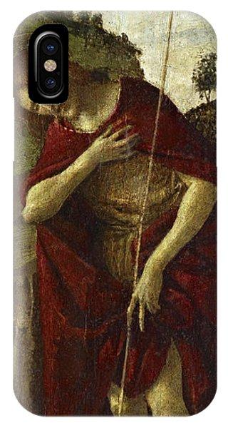 Botticelli iPhone Case - Saint John The Baptist by Sandro Botticelli