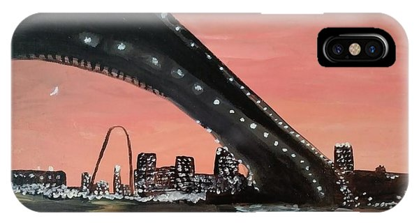 Gateway Arch iPhone Case - Saint Louis Sunset Skyline by EL Adams