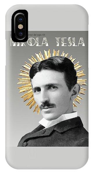 Arte iPhone Case - Saint Nikola Tesla by Joaquin Abella