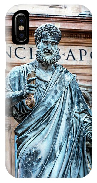 iPhone Case - Saint Peter Statue, Basilica, Vatican by William Perry