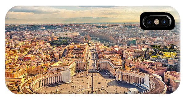 Columns iPhone Case - Saint Peters Square In Vatican And by S.borisov