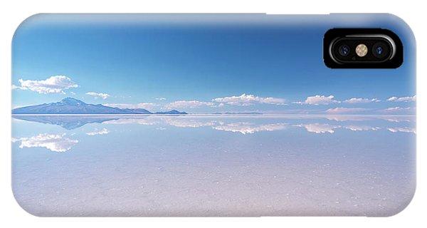 Salt Water iPhone Case - Salar De Uyuni, Bolivia by Delphimages Photo Creations