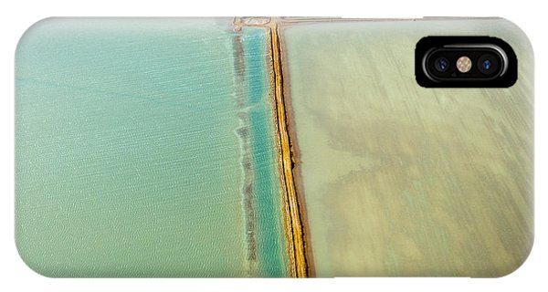 View Point iPhone Case - Saline Aerial View In Shark Bay Monkey by Andrea Izzotti