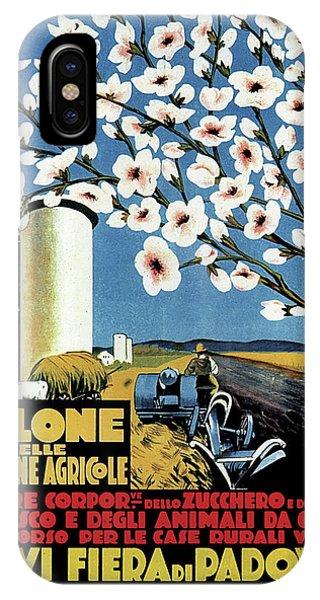 Advertising iPhone Case - Salone Delle Macchine Agricole - Padova, Padua, Italy - Retro Travel Poster - Vintage Poster by Studio Grafiikka