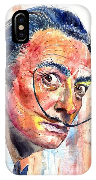 Strange iPhone Case - Salvador Dali Portrait by Suzann Sines