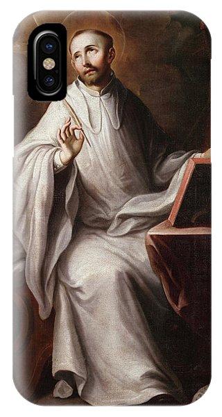 San Miguel iPhone Case - San Bernardo Abad by Miguel Cabrera