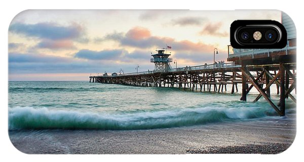 IPhone Case featuring the photograph A San Clemente Pier Evening by Brian Eberly