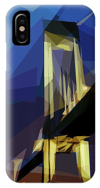IPhone Case featuring the digital art San Francisco Bridge by ISAW Company