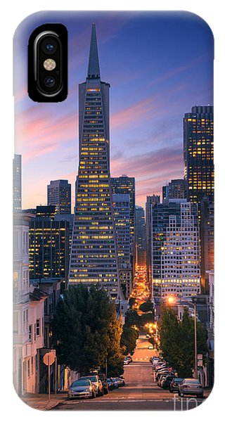 Office Buildings iPhone Case - San Francisco Downtown At Sunrise - by Im photo