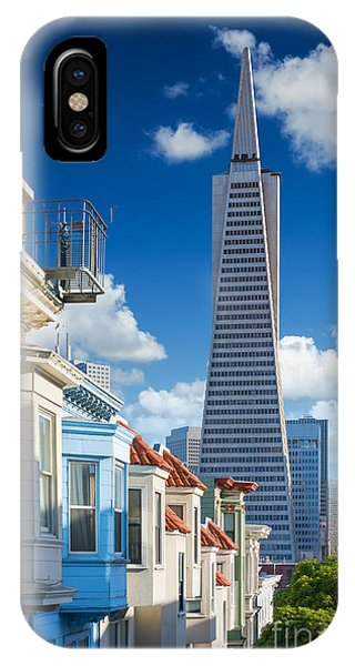 Office Buildings iPhone Case - San Francisco Downtown. Famous Typical by Im photo