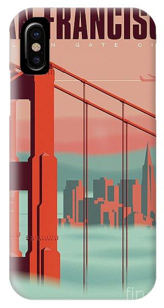 1960s iPhone Case - San Francisco Poster - Vintage Travel by Jim Zahniser