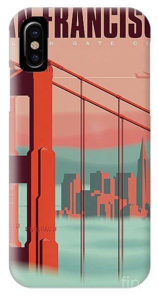 Artwork iPhone Case - San Francisco Poster - Vintage Travel by Jim Zahniser
