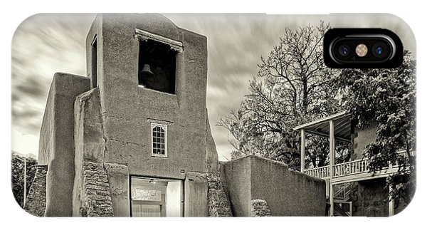 San Miguel iPhone Case - San Miguel Mission And Chapel - Santa Fe The City Different New Mexico Land Of Enchantment by Silvio Ligutti