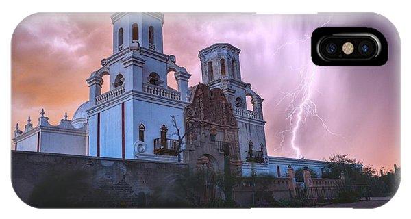 San Xavier Mission Lightning IPhone Case