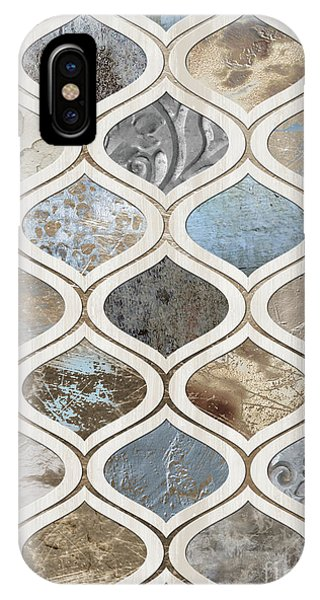 Organic Chocolate iPhone Case - Sand And Surf Arabesque Modern Geometric Texture Pattern by Tina Lavoie