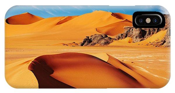 Heat iPhone Case - Sand Dunes And Rocks, Sahara Desert by Dmitry Pichugin