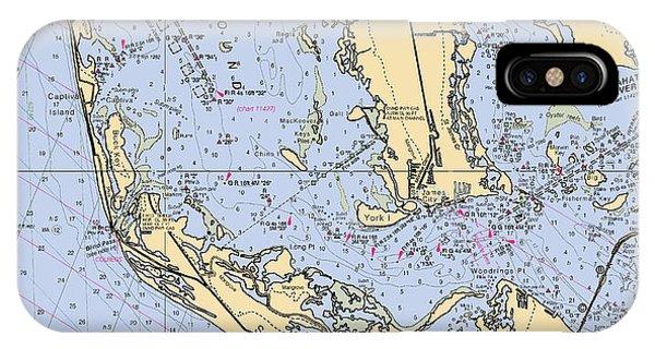 Sanibel And Captiva Islands Nautical Chart IPhone Case
