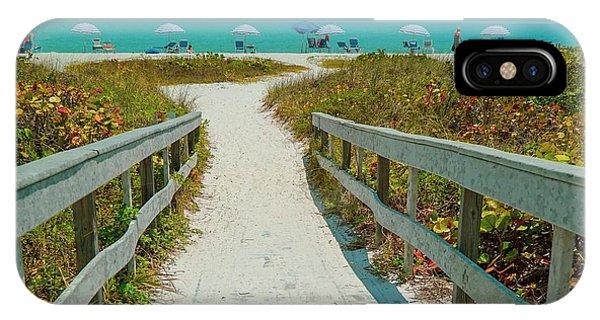 Sanibel Beach Umbrellas IPhone Case