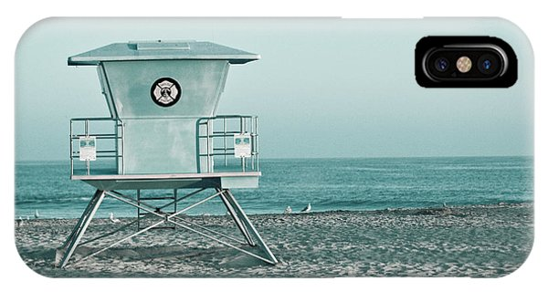 IPhone Case featuring the photograph Santa Cruz California Lifeguard Tower by Melanie Alexandra Price