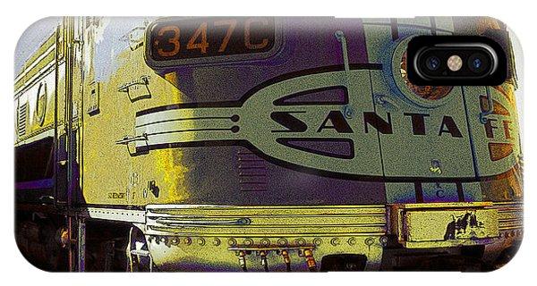 Santa Fe Railroad 347c - Digital Artwork IPhone Case