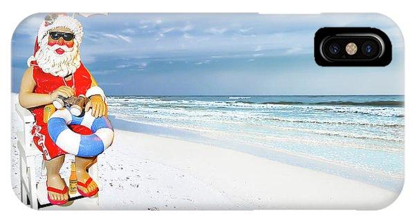 Santa Lifeguard IPhone Case