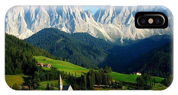Spring Mountains iPhone Case - Santa Maddalenasankta Magdalena And by Matteo Volpone