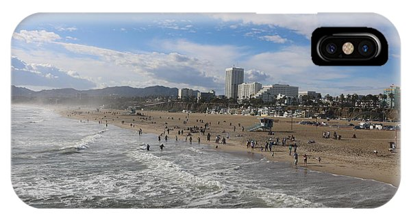 Santa Monica Beach , Santa Monica, California IPhone Case